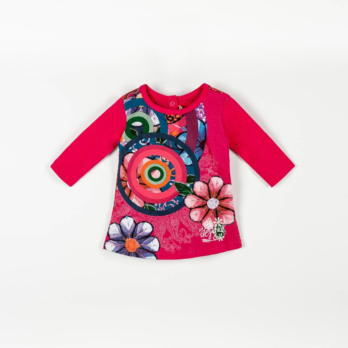 DESIGUAL Baby Girl Infant T-shirt Tee Top Pink Size 3 months 62cm NEW RRP $39